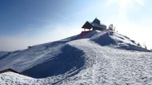 Und noch einmal die Kapelle am Gipfel des Hochfelln