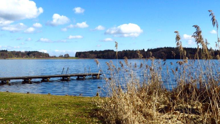 Wir starten am nördlichsten See der Seenplatte, dem Pelhamer See