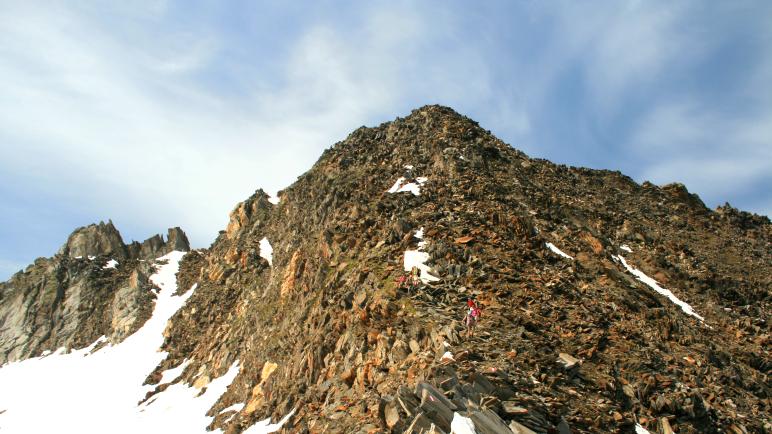 Im Abstieg vom Schönbichler Horn