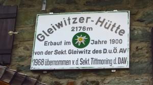 Gleiwitzer Hütte, 2176m
