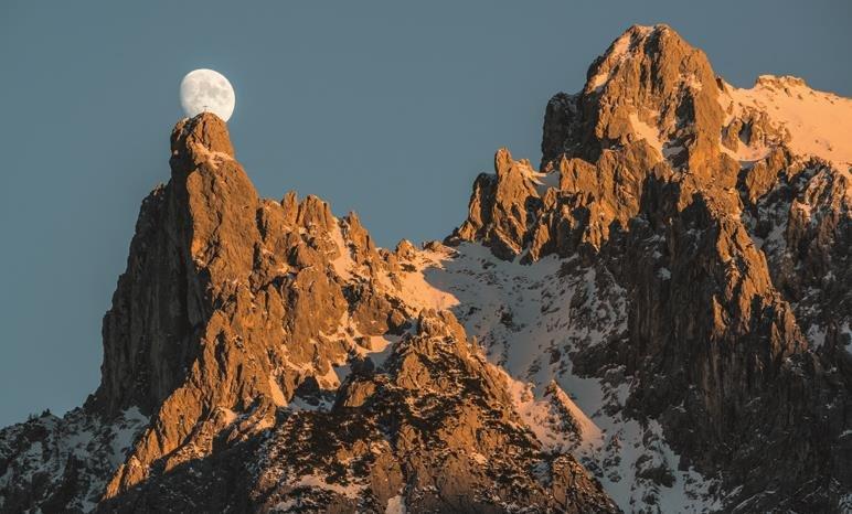 Mondaufgang über der Viererspitze - Foto: Heinz Zak