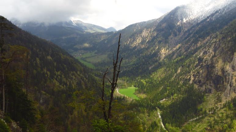 Auf dem Bayrischzeller Höhenweg - Blick ins Ursprungtal