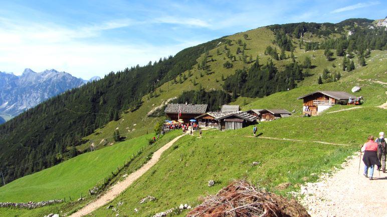 Die Dafalzalm oberhalb vom Achensee