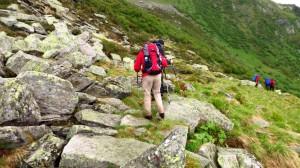 Abstieg auf dem Grüne-Wand-Weg