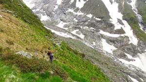 Im Aufstieg zur Greizer Hütte