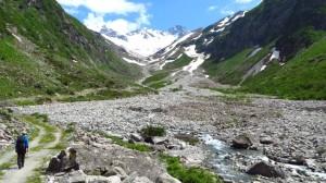 Der Floitenbach in seinem breiten Flußbett
