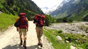 Am Beginn unserer Wanderung durch das Floitental