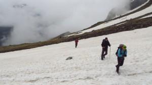 Wieder einmal eine Schneefeldquerung