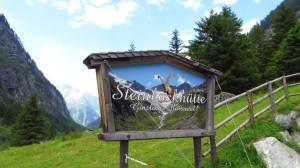 Die Steinbockhütte, auf 1380 Metern im Floitengrund