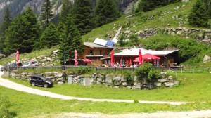 Die Steinbockhütte auf 1380 Metern Höhe, der Startpunkt für unsere Wanderung