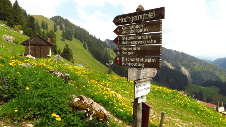 I muss auffi, nicht auf den Watzmann, aber zum Hochgern-Gipfel