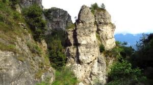Interessante Felsen im Valle del Signol