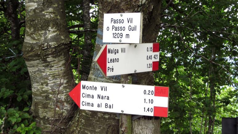 Der Passo Guil, mit 1209 Metern der höchste Punkt der Wanderung