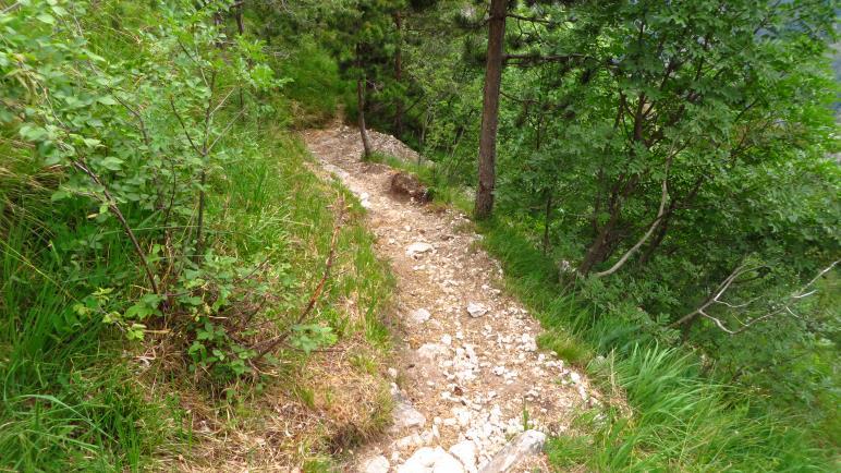 In steilen Serpentinen bergab nach Limone
