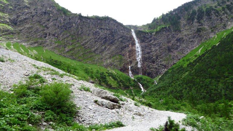 Der Bergacht-Wasserfall