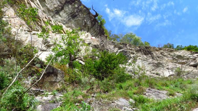 Im Klettersteig an der Pursteinwand