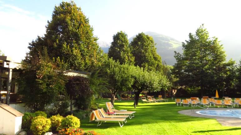 Im Garten des Hotel Windschar