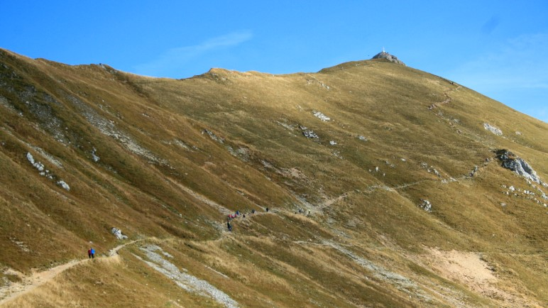 Der Aufstiegsweg zur Rofanspitze. Erst auf den letzten Metern wird er etwas schwieriger
