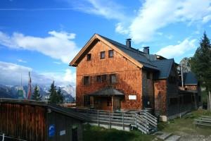 Die Erfurter Hütte. Ein schönes Übernachtungsziel, diesmal ist sie aber nur Gasthaus