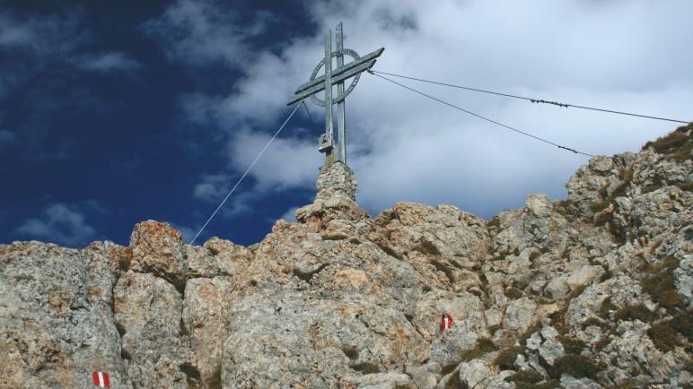 Das Gipfelkreuz der Rofanspitze