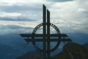 Glaube, Liebe, Hoffnung - das Gipfelkreuz der Rofanspitze