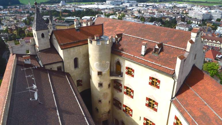 Schloss Bruneck, vom Bergfried aus gesehen