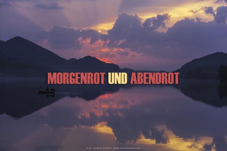Sonnenuntergang am Fuschlsee, Salzburg. Aus dem Kalender Morgenrot und Abendrot - Foto: Dr. Günter Zöhrer