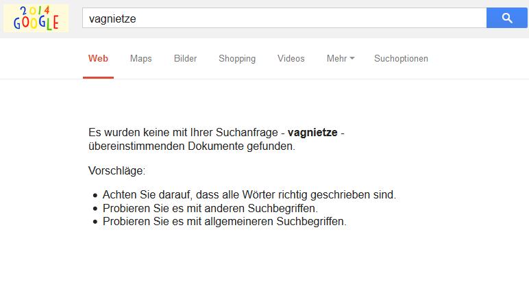 Ein Begriff, den Google nicht kennt: Die Vagnietze