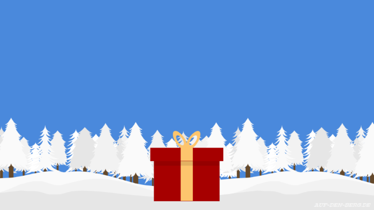 Frohe Weihnachten! Lasst Euch reich beschenken, geniesst die Zeit und geht raus auf die Berge!