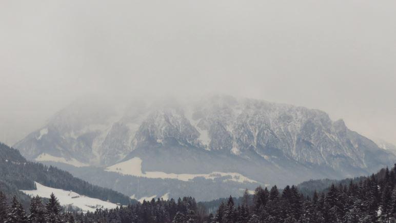 Derr Blick auf das Kaisergebirge, den Zahmen Kaiser. Nochmal werde ich ihn heute nicht sehen können