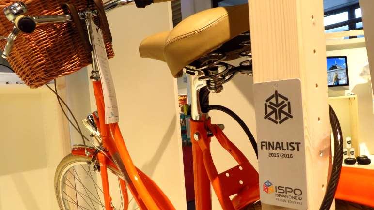 Das Fahrradschloss verschwindet in der Sattelstange, eine gute Idee!