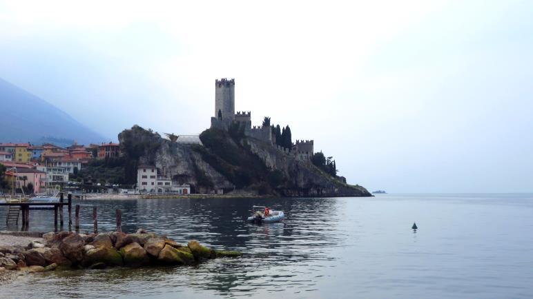 Die Scaliger-Burg in Malcesine