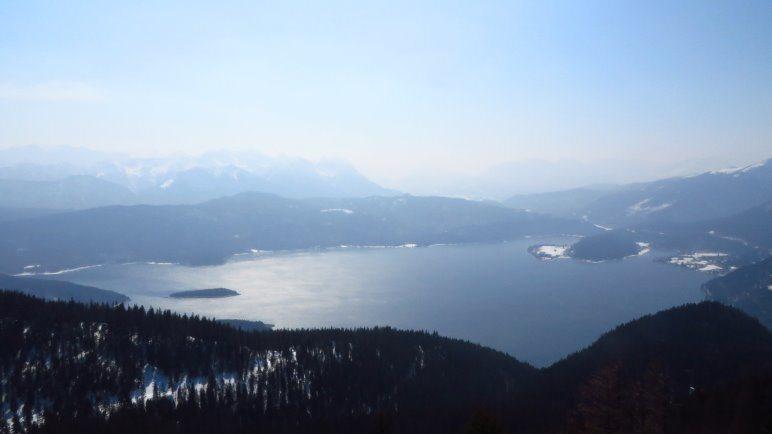 Der Blick auf den Walchensee