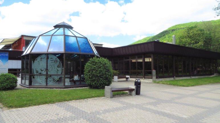 Zum Abschluß meines Besuchs auf der Schwäbischen Alb: Abhägen in den Albthermen