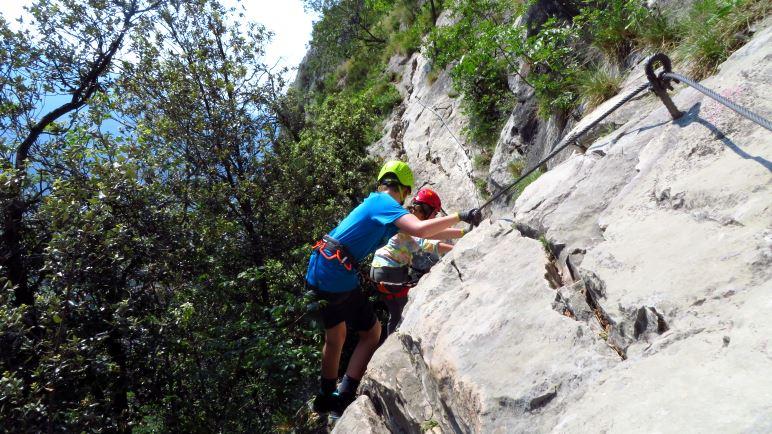 Im Colodri-Klettersteig bei Arco am Gardasee