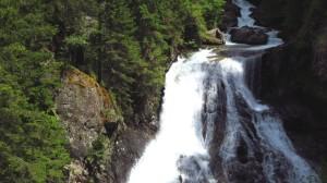 Der zweite Wasserfall der Reinbach-Wasserfälle