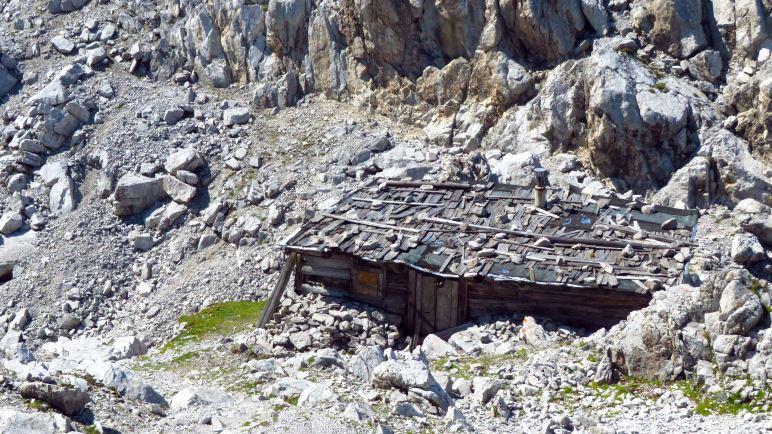 Die Geierwally-Hütte am Hafelekar hoch über Innsbruck