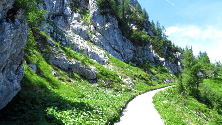 Die letzten Meter auf dem Wanderweg zum Kehlsteinhaus