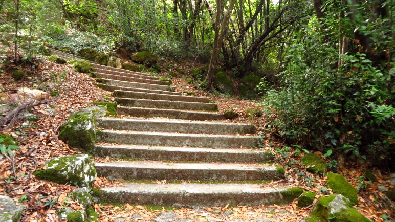 Eine Wanderung, deren Aufstieg nur aus Treppenstufen besteht: Von Mošćenička Draga nach Mošćenice