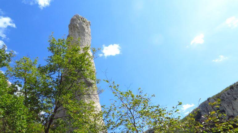 Der Felsturm Kerze, auf Kroatisch Svijeca