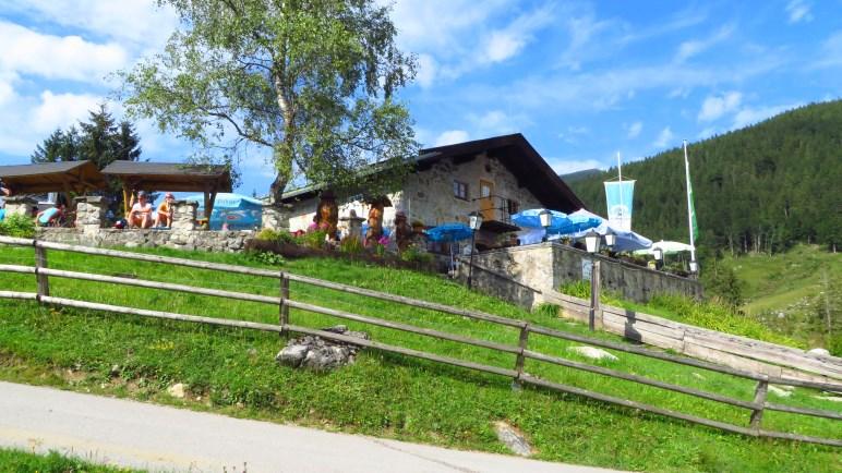 Die Albert-Link-Hütte, eine großartige Hütte, auf der wir gleich zweimal einkehren