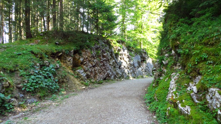 Der Bleckstein-Durchbruch, der für die Bockerlbahn in den Fels gesprengt wurde