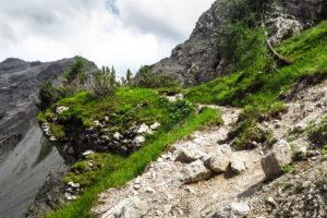 Der Aufstiegsweg im hinteren Falzthurntal