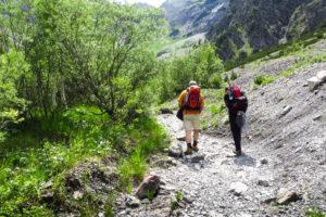 Gemütliches Wandern hinter der Gramaialm