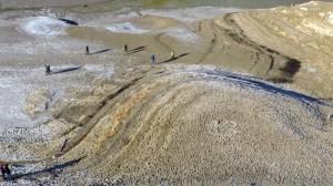 Muster am Ufer des trockenen Sylvensteinspeichers