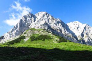 Am westlichen Lamsenjoch im Karwendel