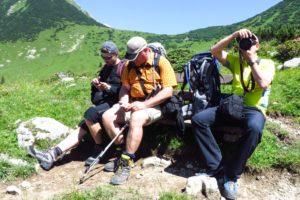 Pause auf dem Weg zum Karwendelhaus