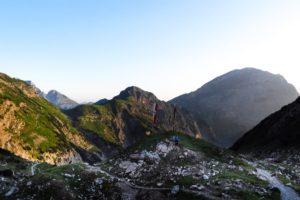 Morgens an der Lamsenjochhütte