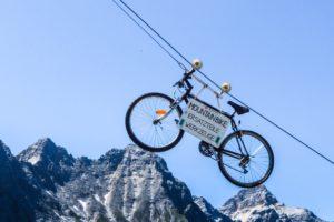 Das berühmte Mountainbike an der Falkenhütte