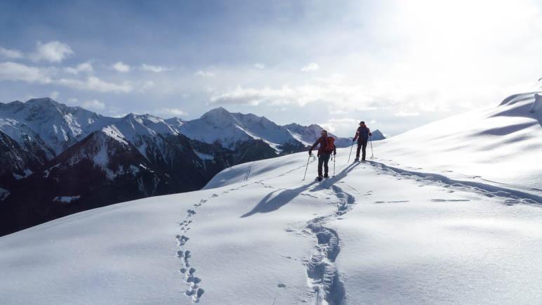 Schneeschuhtour auf das Hahnl im Nationalpark Texel-Gruppe